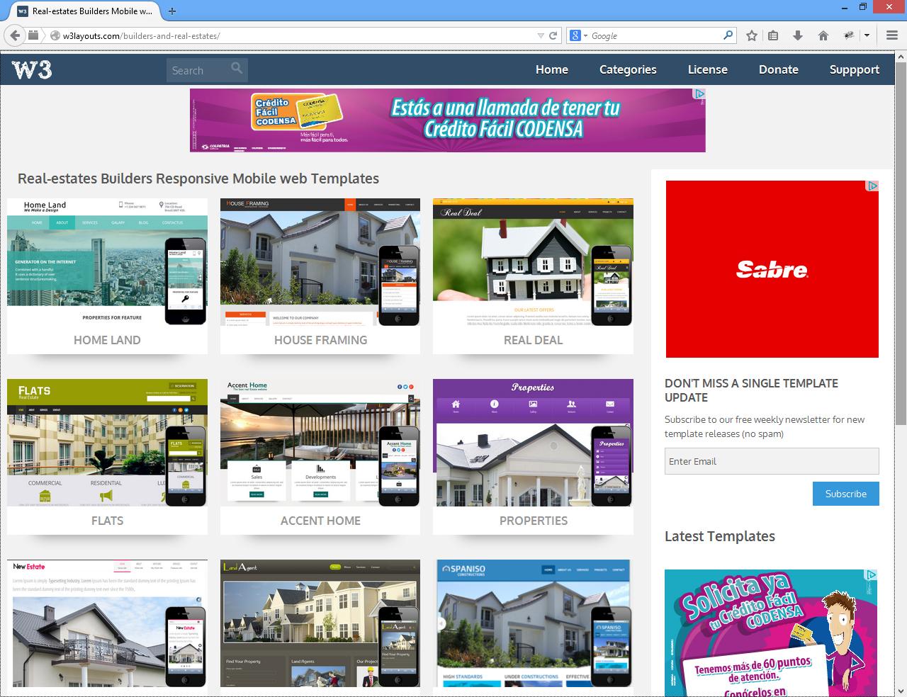 Sitios Web De Plantillas HTML Para Negocios De Bienes Raíces
