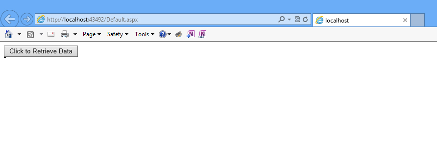 Internet Explorer Blank Page