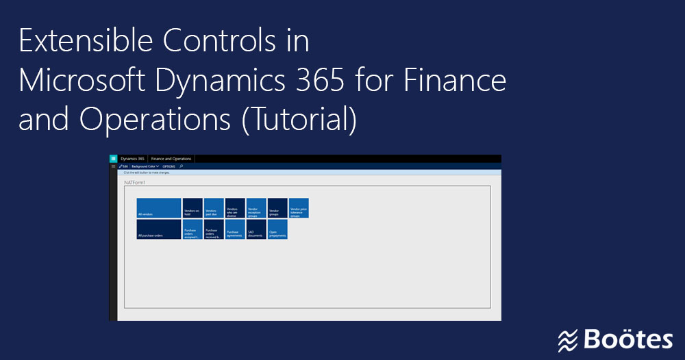 Extensible Controls in Dynamics 365 for Finance and Operations