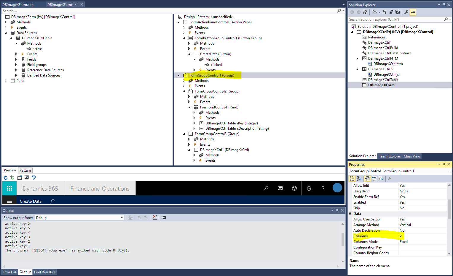 Dynamics 365 for Finance and Operations Extensible Controls