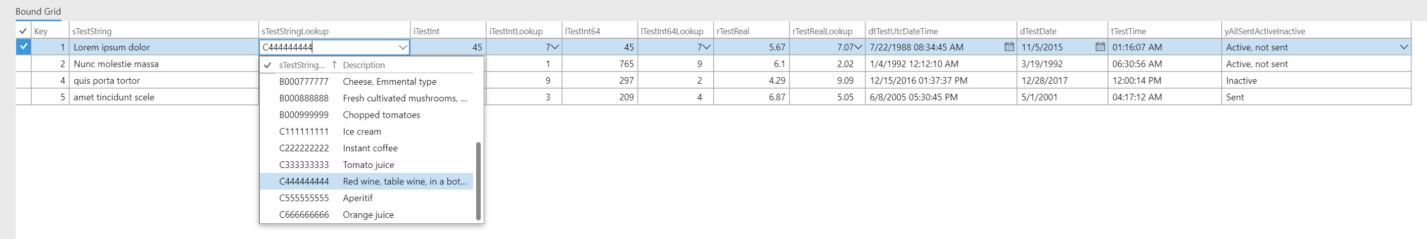 Boötes AX7 Bound Grid Control - Dynamics 365 for Finance and Operations