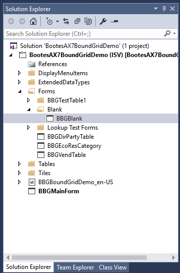 Open Blank Form - Boötes AX7 Bound Grid Control - Dynamics 365 for Finance and Operations