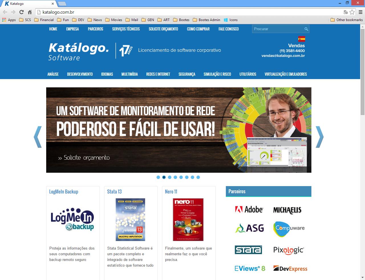 Página Web de Katálogo Software
