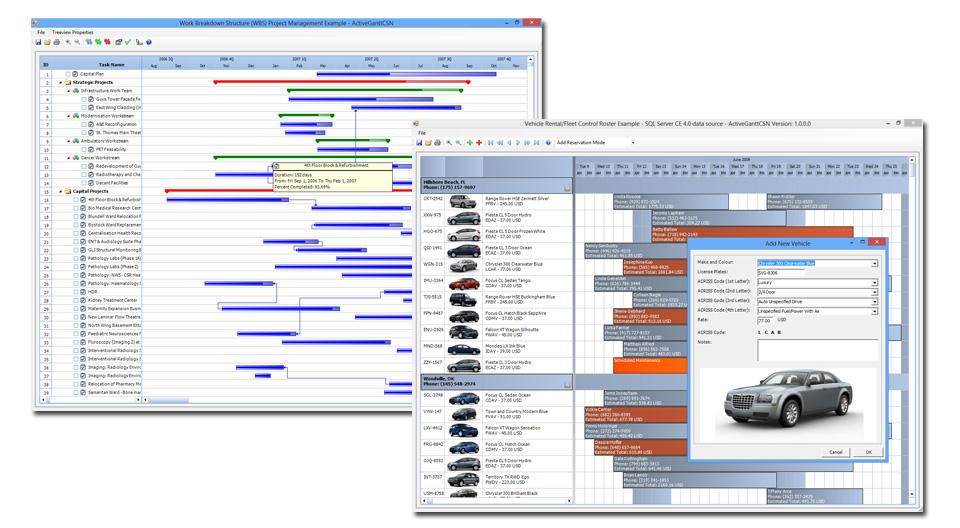 ActiveGantt Scheduler Component